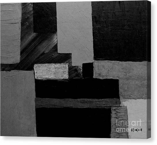 Hues Of Gray Abstract Canvas Print