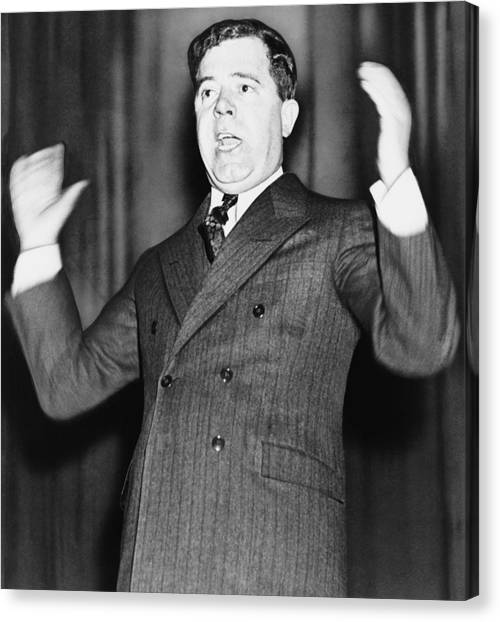 Democratic Canvas Print - Huey Long - The Kingfish by War Is Hell Store