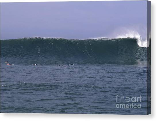 Huge Mavericks Wall Canvas Print by Stan and Anne Foster