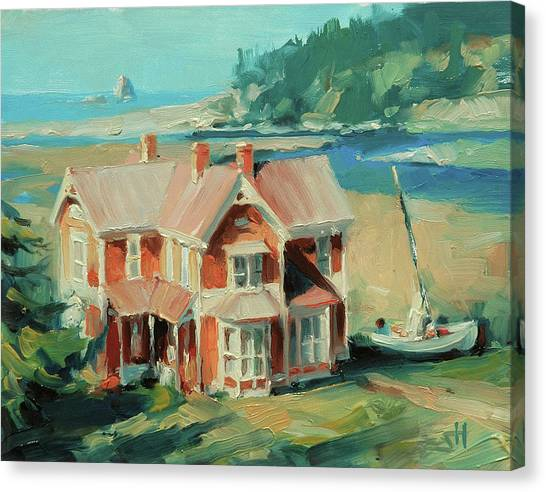 Pacific Coast Canvas Print - Hughes House by Steve Henderson