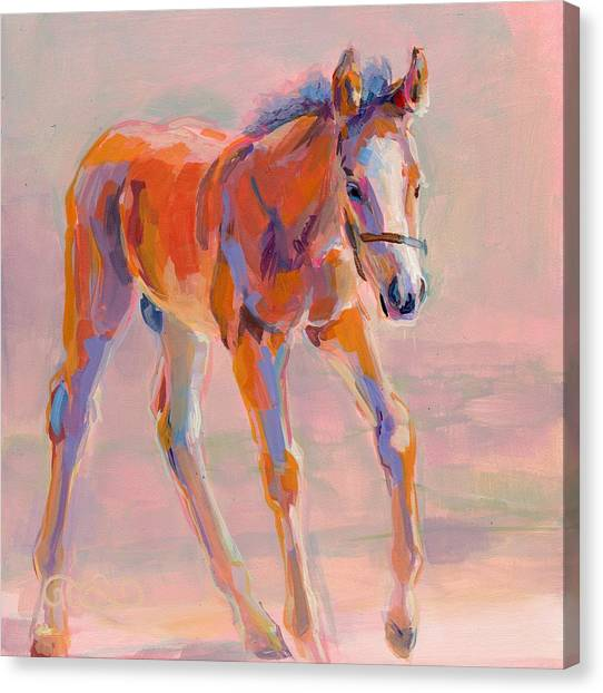 Thoroughbreds Canvas Print - Hugo by Kimberly Santini