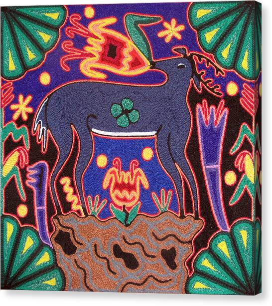 Huichol Deer Canvas Print by Andrew Osta