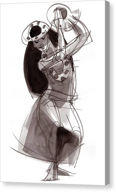 Hula Dancer Alika Canvas Print