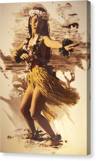 Hawaii Canvas Print - Hula On The Beach by Himani - Printscapes