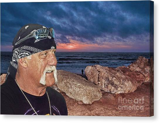 Hulk Hogan Canvas Print - Hulk Hogan At The End Of The Day by Jim Fitzpatrick