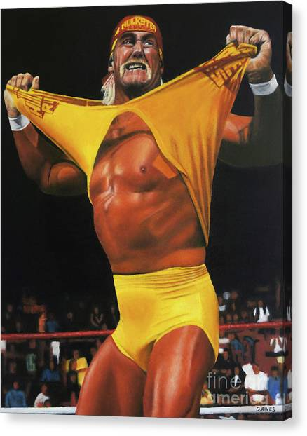 Hulk Hogan Oil On Canvas Canvas Print