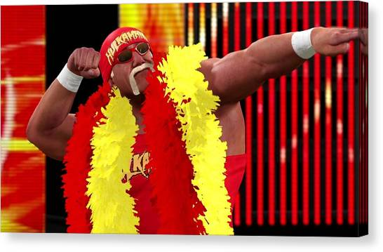 Hulk Hogan Canvas Print - Hulk Hogan by Super Lovely