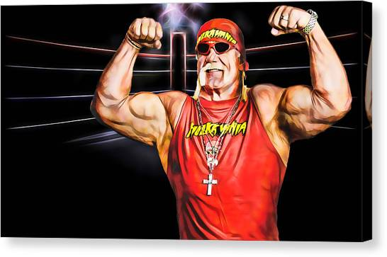 Hulk Hogan Canvas Print - Hulk Hogan Wrestling Collection by Marvin Blaine