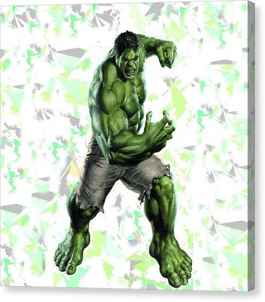Hulk Splash Super Hero Series Canvas Print