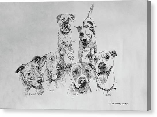 Humane Society Gang Canvas Print