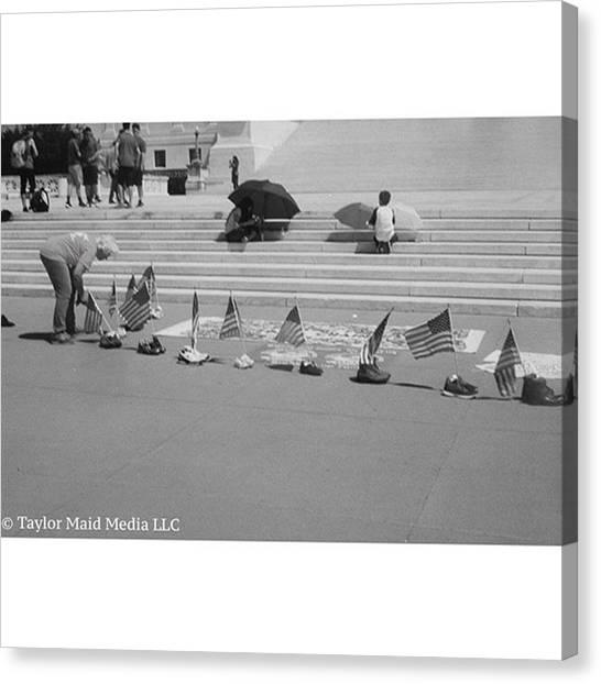 Immigration Canvas Print - Humans But No Humanity.  #washingtondc by Taylor Maid Media Llc