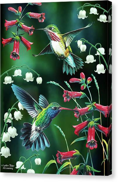 Small Birds Canvas Print - Humming Birds 2 by JQ Licensing