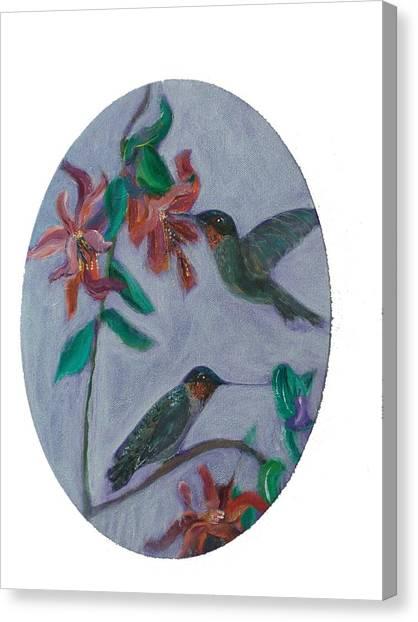 Humming Birds Canvas Print by Mikki Alhart
