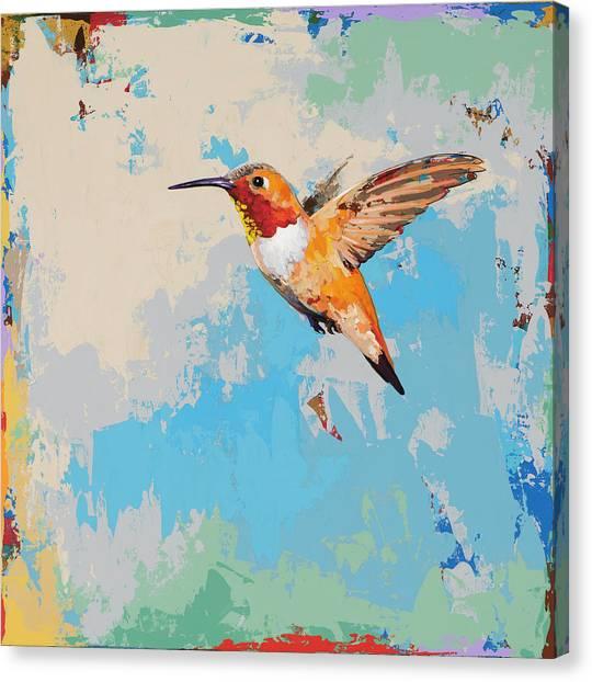 Hummingbirds Canvas Print - Hummingbird #24 by David Palmer