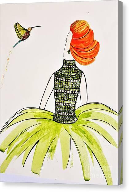Hummingbird Admirer Canvas Print