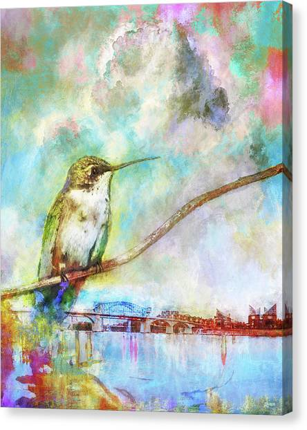 Hummingbird By The Chattanooga Riverfront Canvas Print