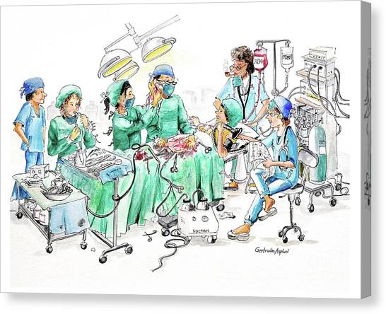 Humorous Surgical Comedy Canvas Print