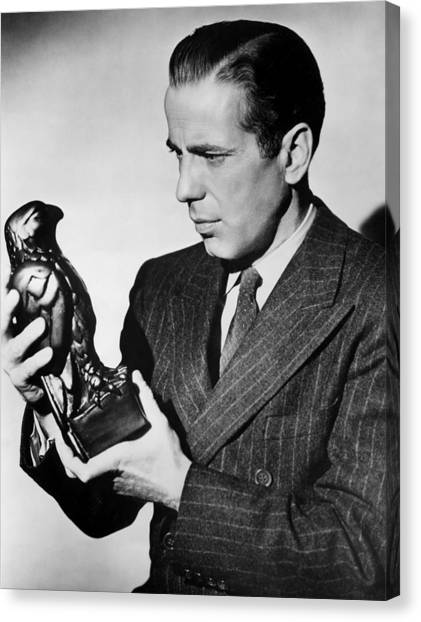 Humphrey Bogart Holding Falcon The Maltese Falcon 1941  Canvas Print