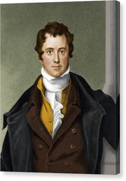 Humphry Davy, British Chemist Canvas Print by Maria Platt-evans