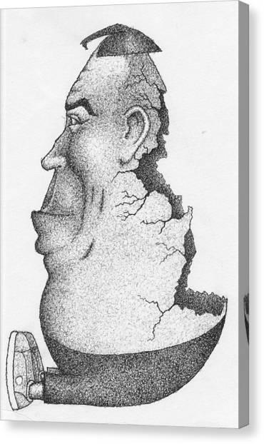 Humpty Dumpty Canvas Print by Erik Loiselle