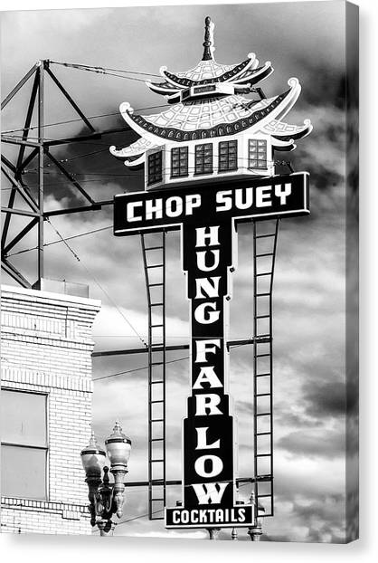 Chinese Restaurant Canvas Print - Hung Far Low Chop Suey by Dominic Piperata