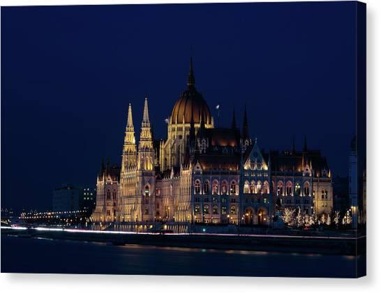 Hungarian Parliament Building #1 Canvas Print