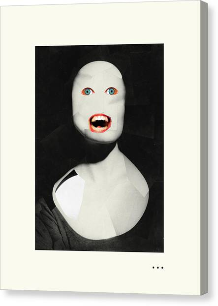 Surrealism Canvas Print - Hungry Ghost by Jazzberry Blue
