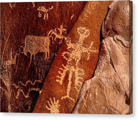 Canvas Print - Hunter Petroglyph by Russell Wilson