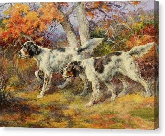 Golden Retrievers Canvas Print - Hunting Dogs by Edmund Henry Osthaus