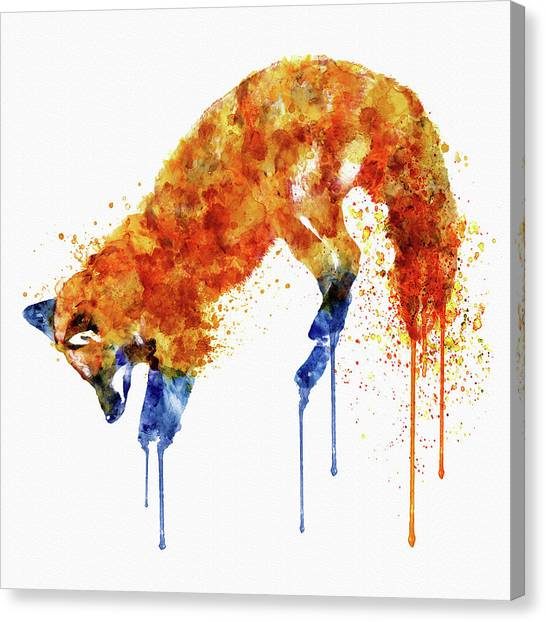 Foxes Canvas Print - Hunting Fox  by Marian Voicu