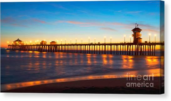 Huntington Beach Pier - Twilight Canvas Print