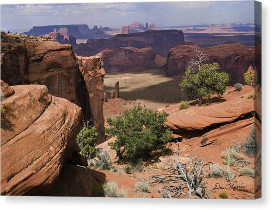 Hunt's Mesa And Monument Valley Canvas Print