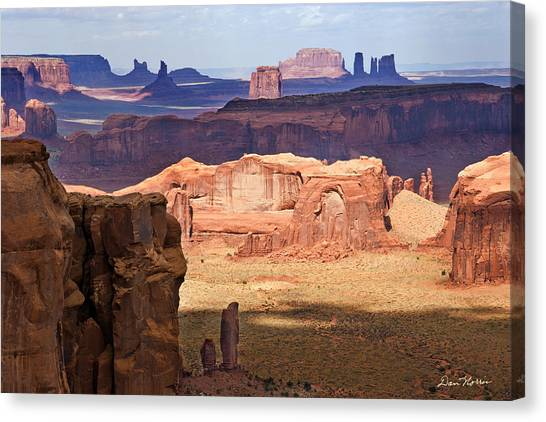 Hunt's Mesa Spotlighting Canvas Print