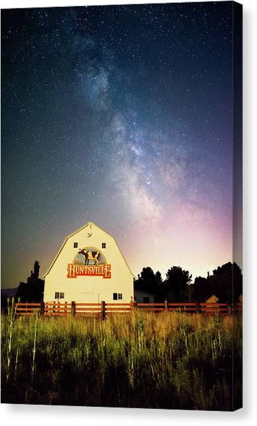Huntsville Cow Barn Canvas Print