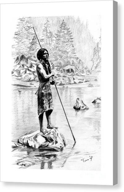 Hupa Fisherman Canvas Print