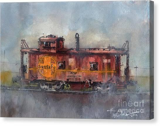 Hurlwood Caboose Canvas Print