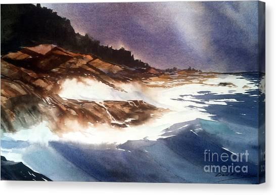 Hurricane '03' Halifax Canvas Print by Don F  Bradford