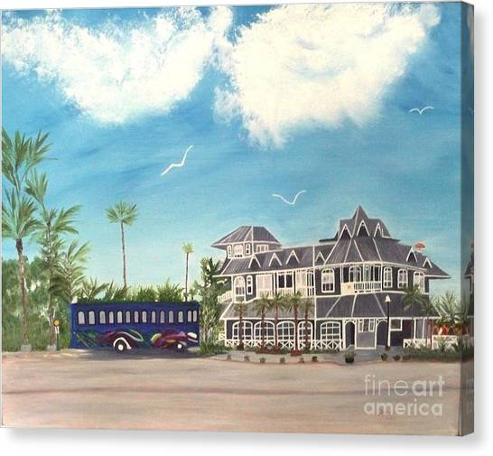 Hurricane Restaurant Pass A Grill Florida Canvas Print by Peggy Holcroft