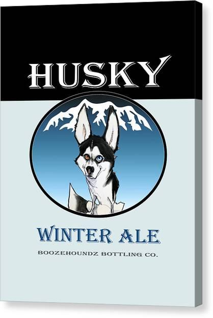 Craft Beer Canvas Print - Husky Winter Ale by John LaFree