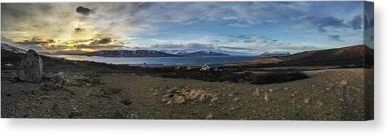 Hvalfjorour Panorama Canvas Print
