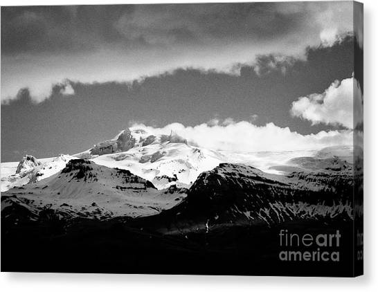Vatnajokull Glacier Canvas Print - Hvannadalshnukur Highest Peak Of Oraefajokull Ice Covered Volcano Part Of Vatnajokull Glacier by Joe Fox
