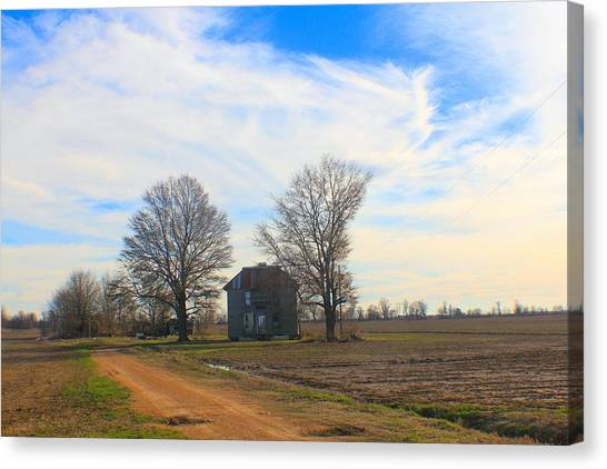 Hwy 8 Old House 2 Canvas Print