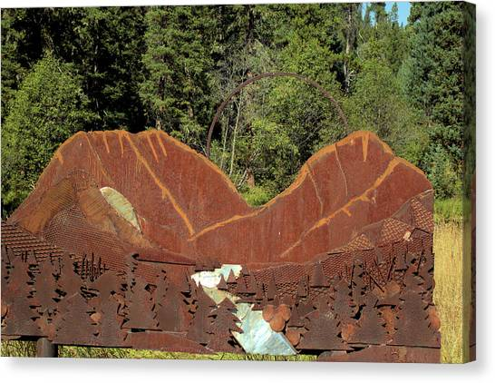 Hyalite Canyon Sculpture Canvas Print