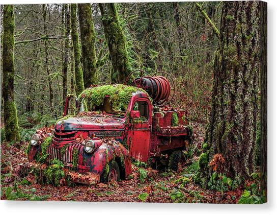 Hybrid Fire Truck Canvas Print