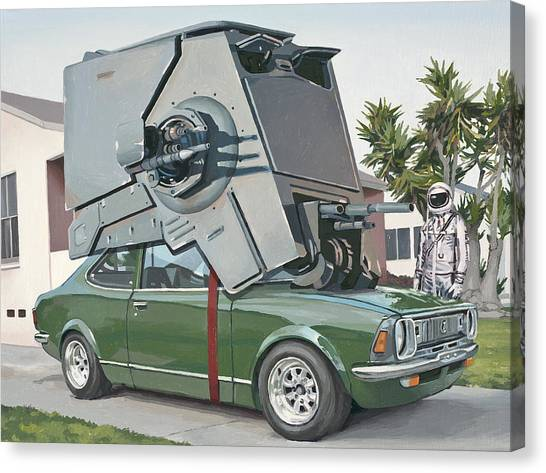 Science Canvas Print - Hybrid Vehicle by Scott Listfield