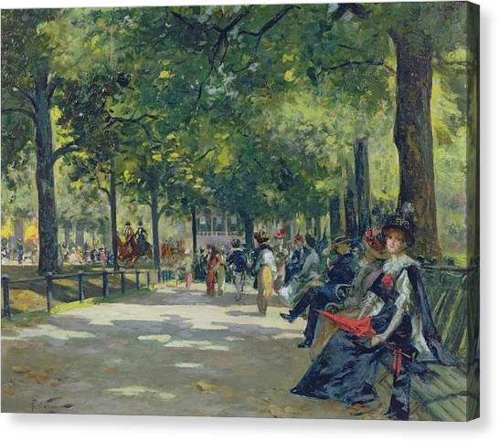 Hyde Park Canvas Print - Hyde Park - London  by Count Girolamo Pieri Nerli