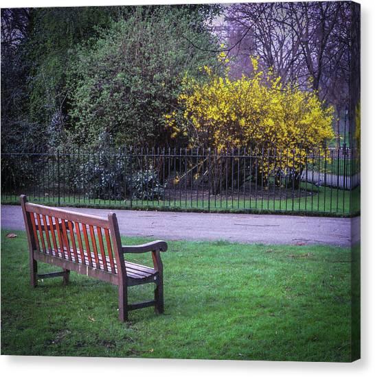 Hyde Park Bench - London Canvas Print