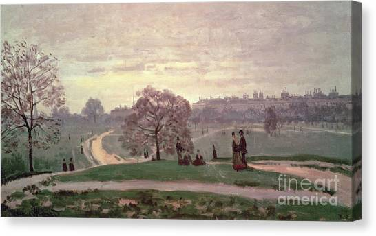 Hyde Park Canvas Print - Hyde Park by Claude Monet