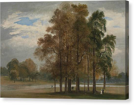 Hyde Park Canvas Print - Hyde Park by John Martin