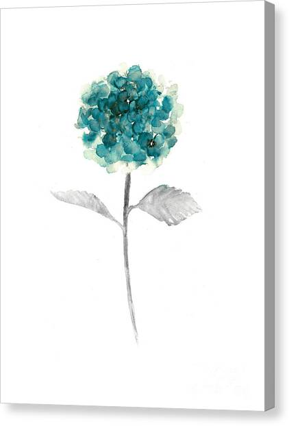 Drawing Canvas Print - Hydrangea Nursery Art Print by Joanna Szmerdt